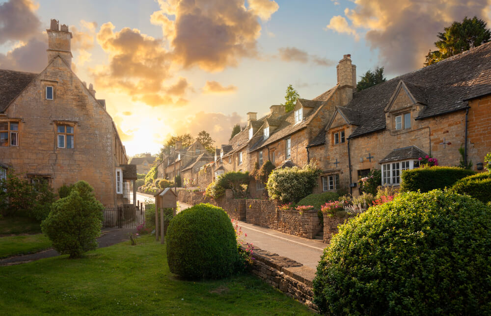 Bourton on the Hill village near Moreton in Marsh, Cotswolds, Gloucestershire, England