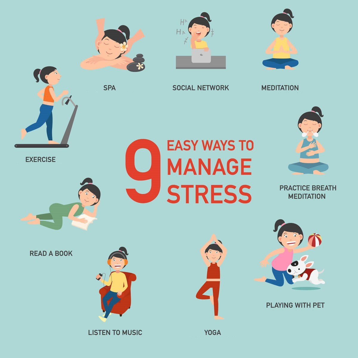 9-Easy-Ways-to-manage-Stress-Montcalm-Hotels-Infographics