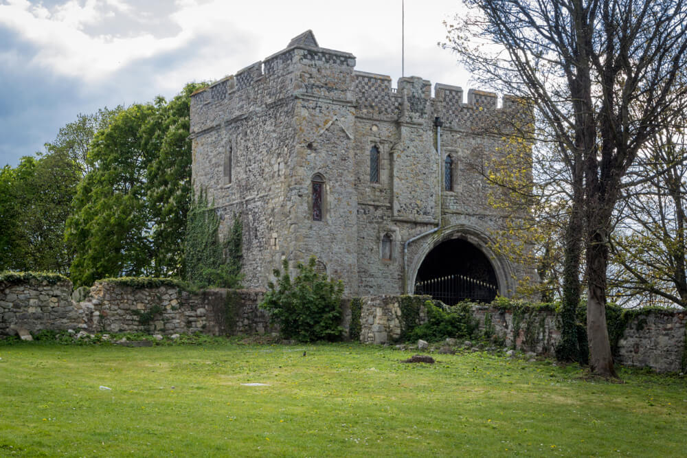 Gatehouse museum at Minster Abbeuy on the Isle of Sheppey, Kent, UK